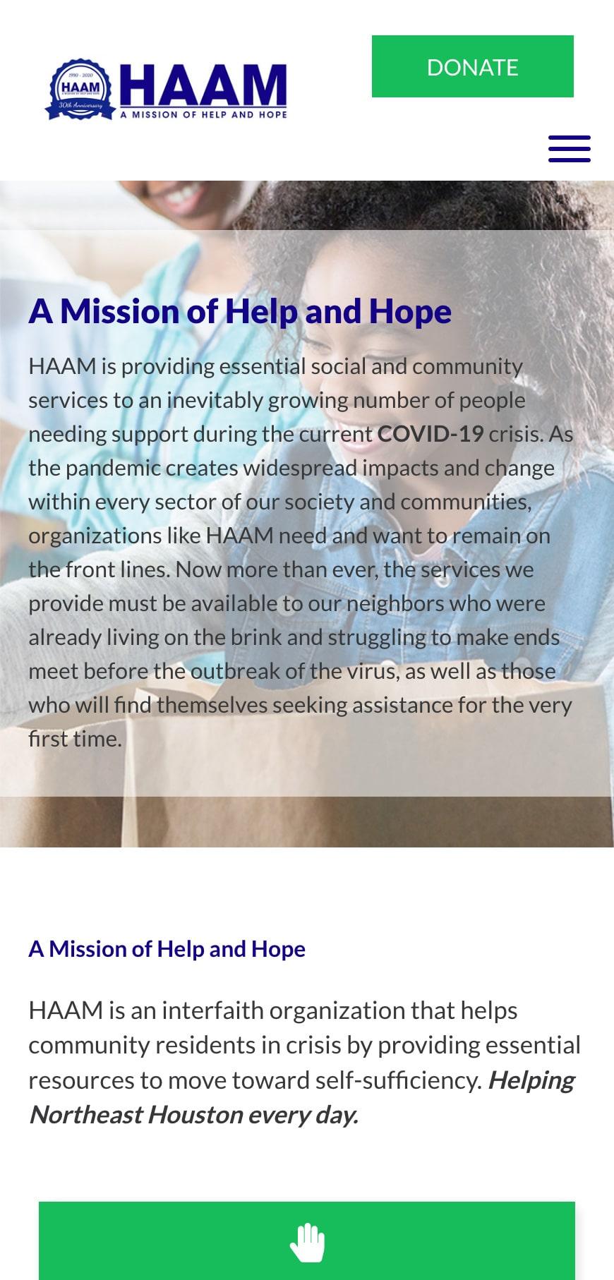 Haam Homepage Mobile 1