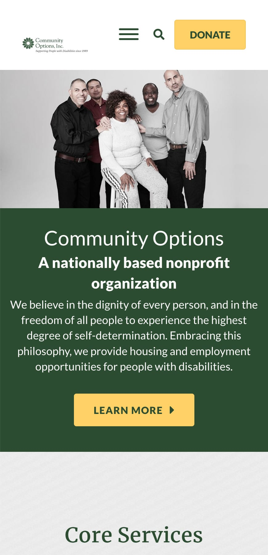 Community Options Homepage Mobile 1