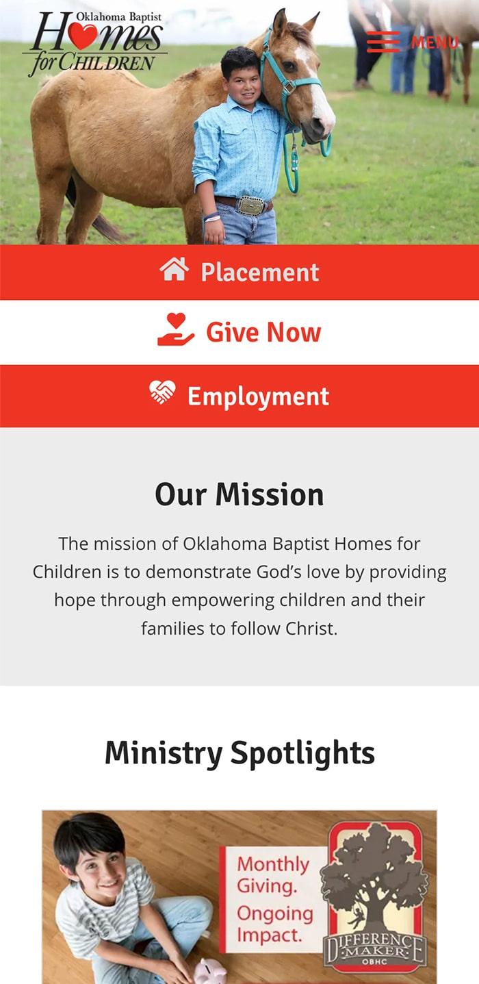 Oklahoma Baptist Homepage Mobile 1