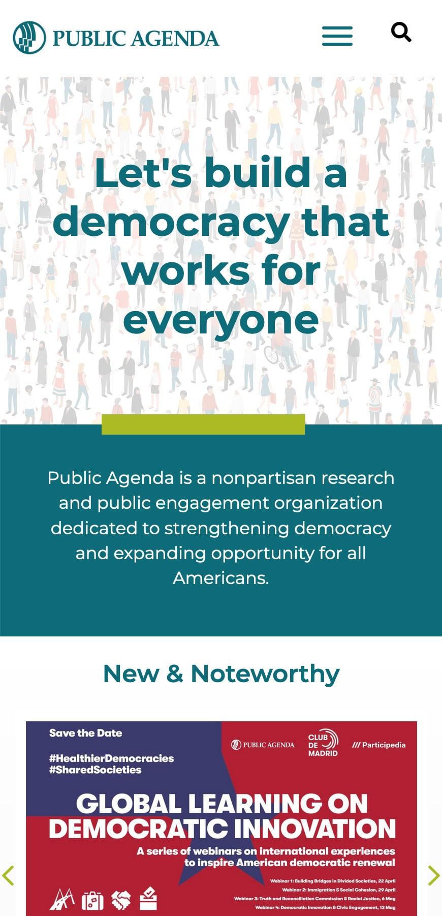 Public Agenda Homepage Mobile 1