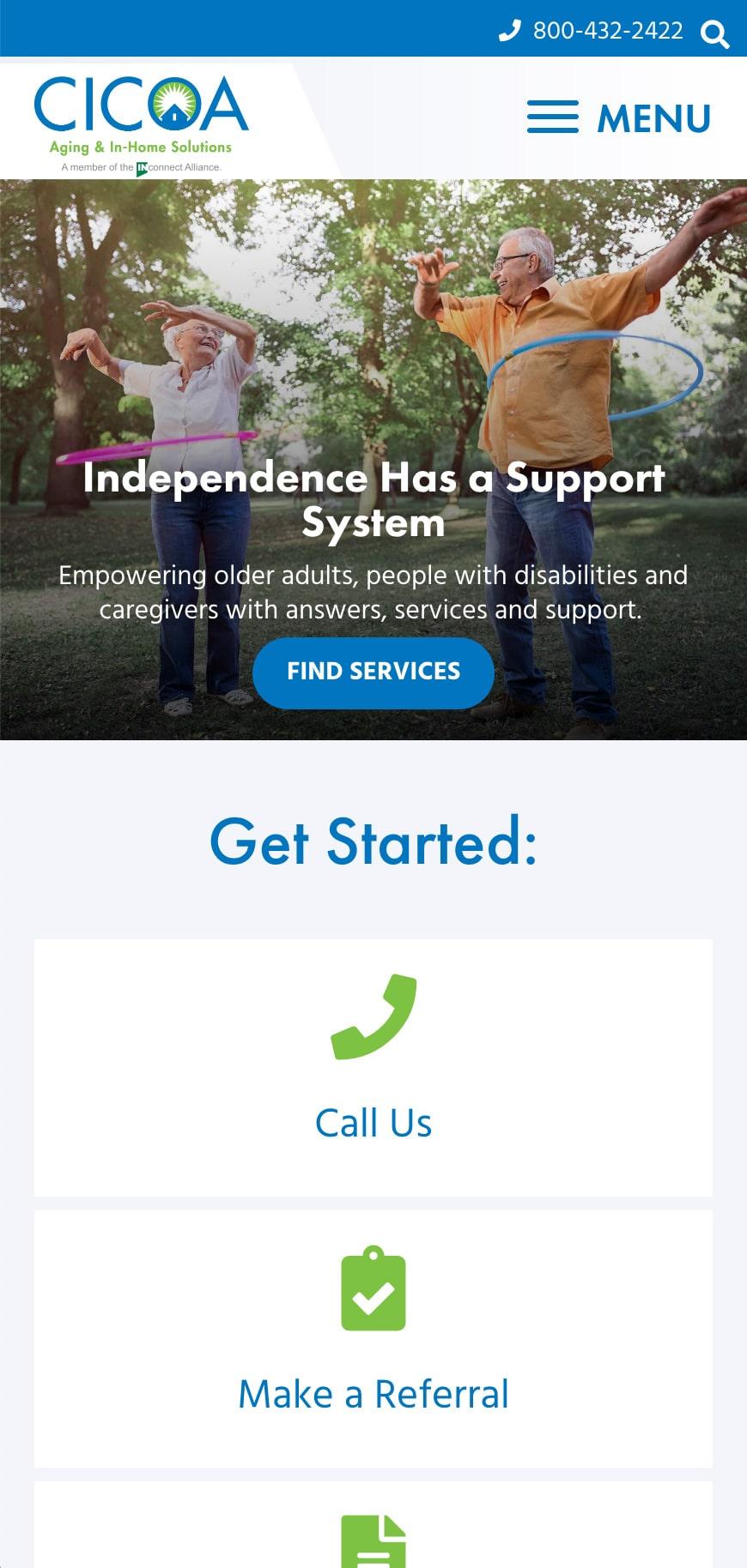CICOA Homepage Mobile 1