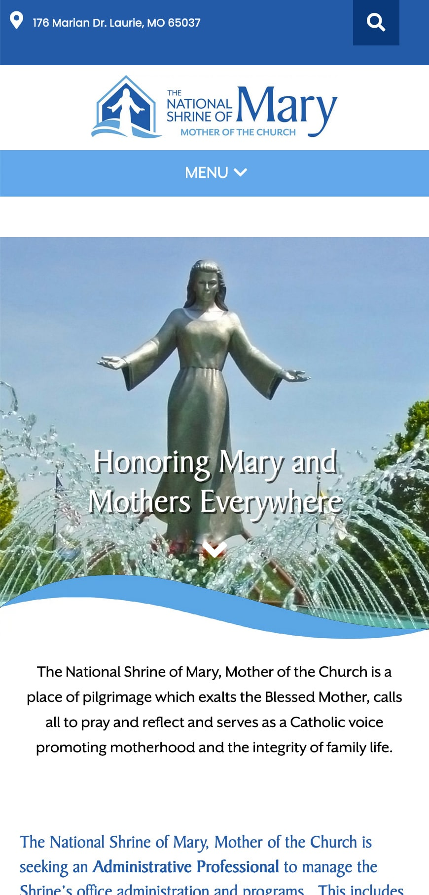 Mother Of The Church Homepage Mobile 1
