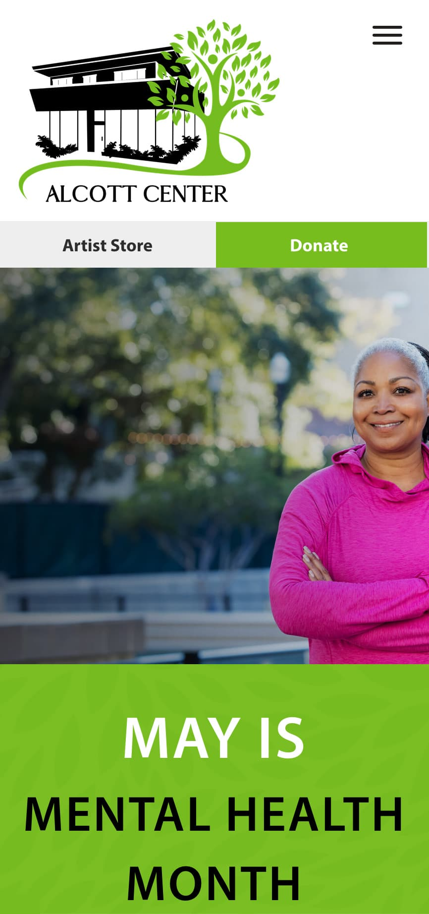 Alcott Center Homepage Mobile 1