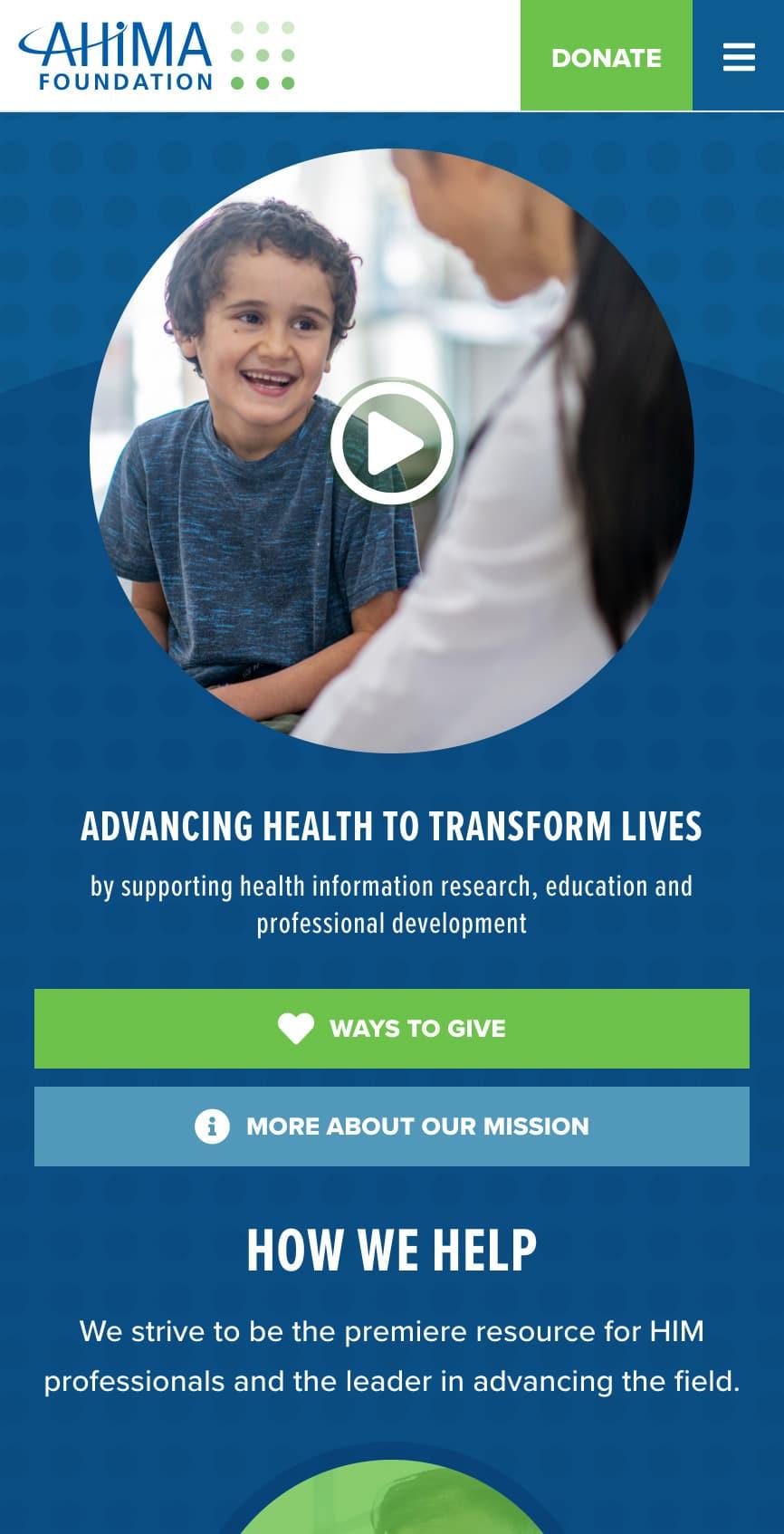 AHIMA Foundation Homepage Mobile 1