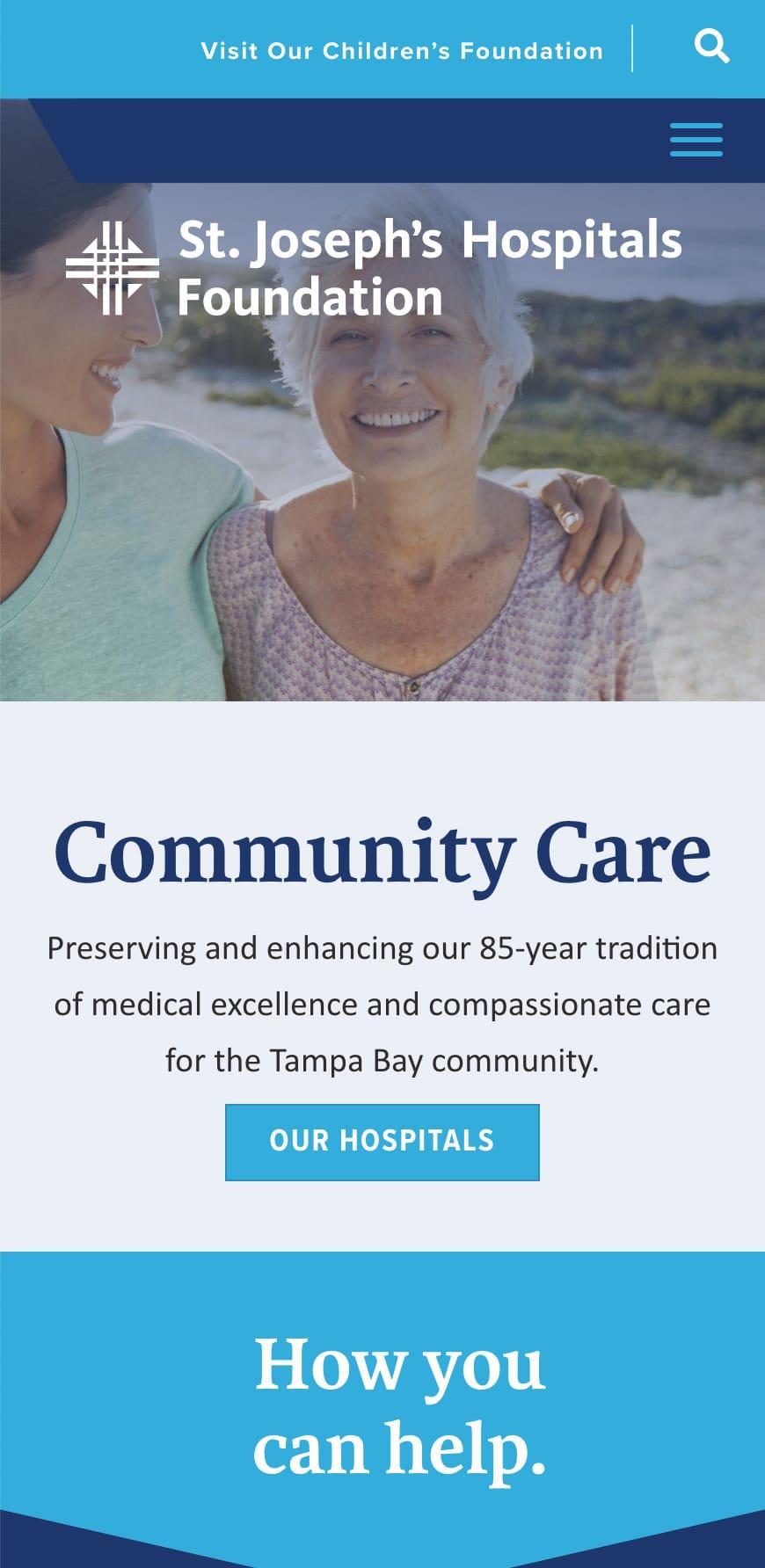 St Josephs Hospital Foundation Homepage Mobile 1