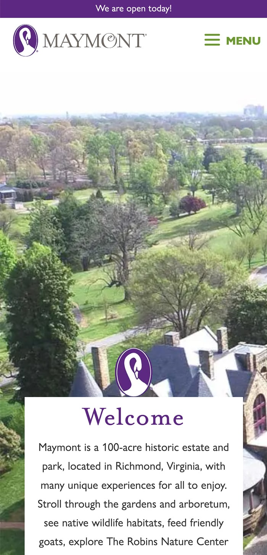 Maymont Homepage Mobile 1