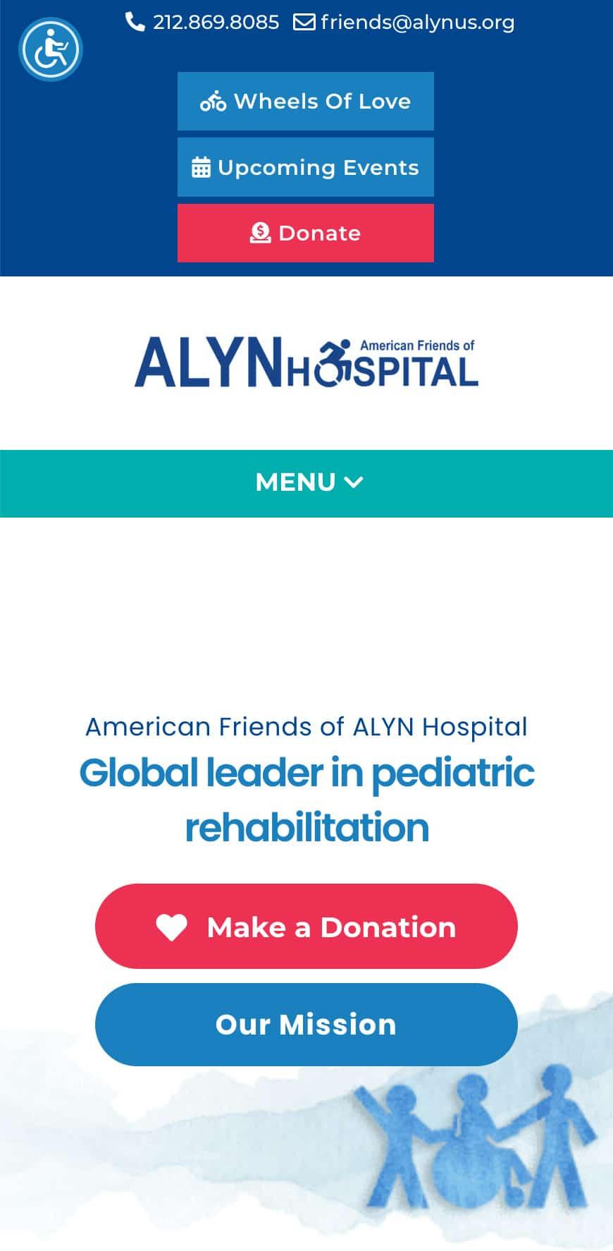 ALYN Hospital Homepage Mobile 1