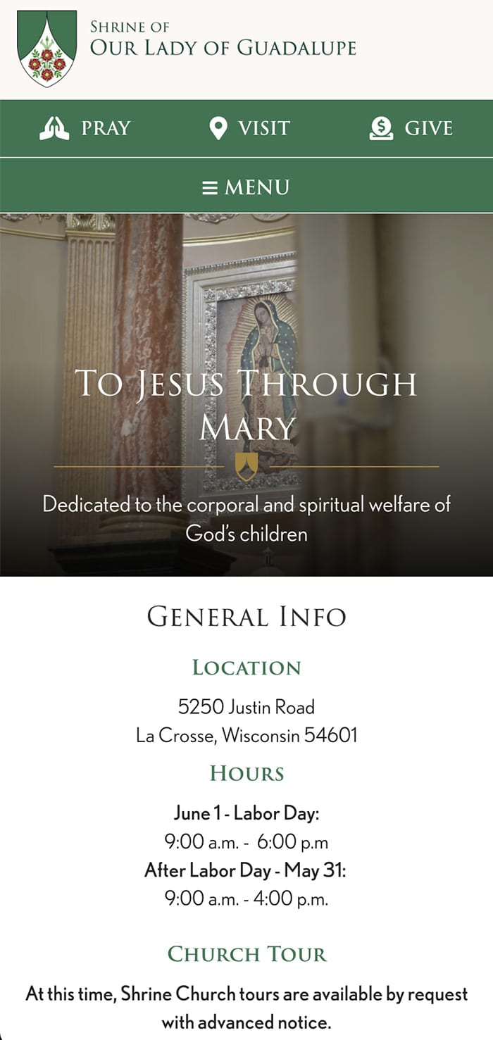 Shrine Lady Guadalupe Homepage Mobile 1
