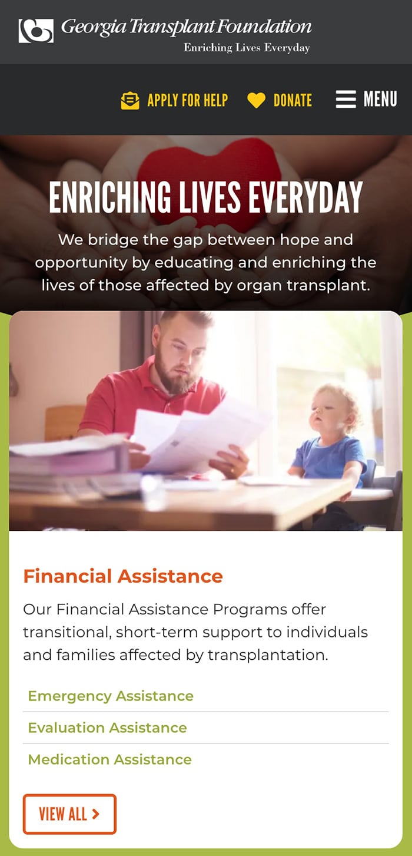 GA Transplant Homepage Mobile 1