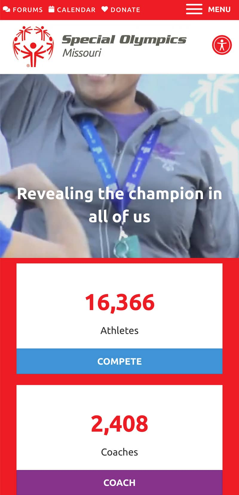 Special Olypmics Missouri Foundation Homepage Mobile 1