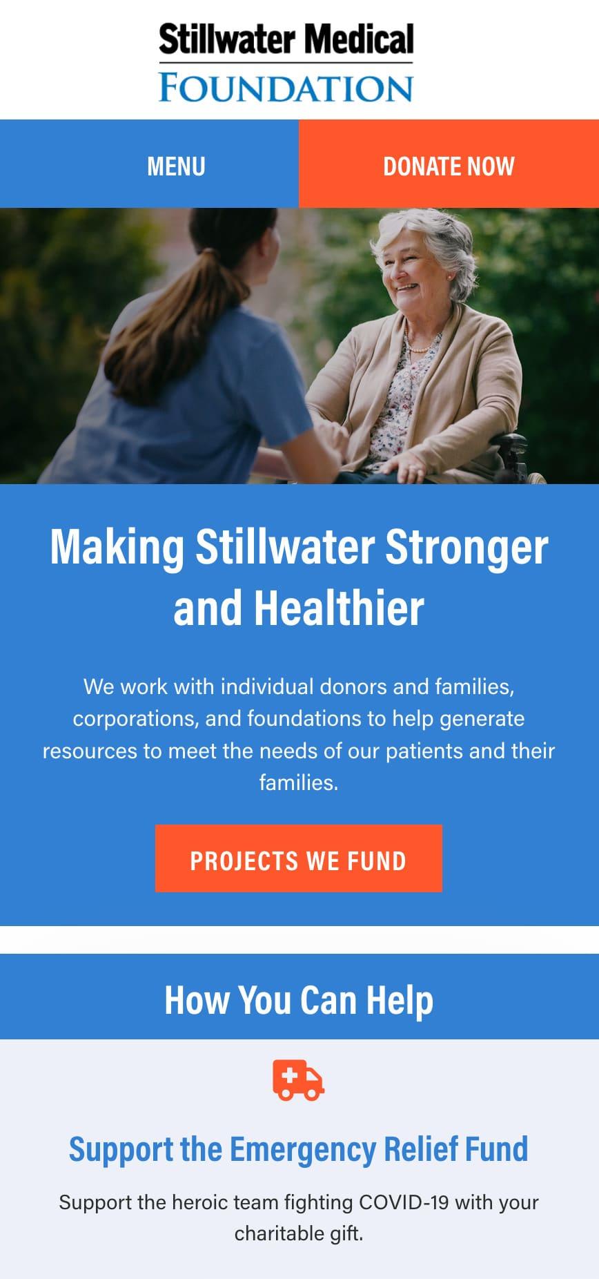 Stillwater Medical Foundation Homepage Mobile 1