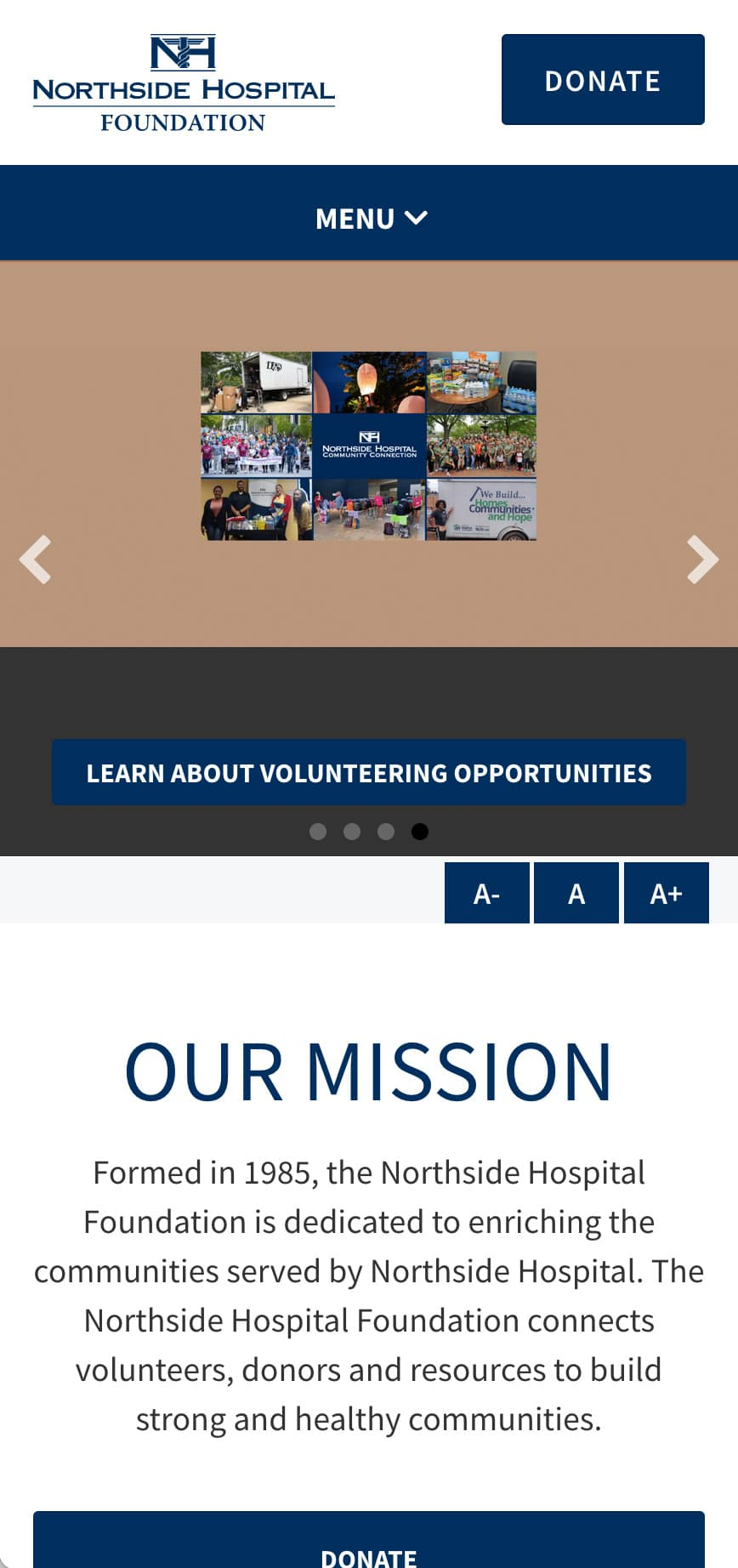 Northside Hospital Foundation Homepage Mobile 1
