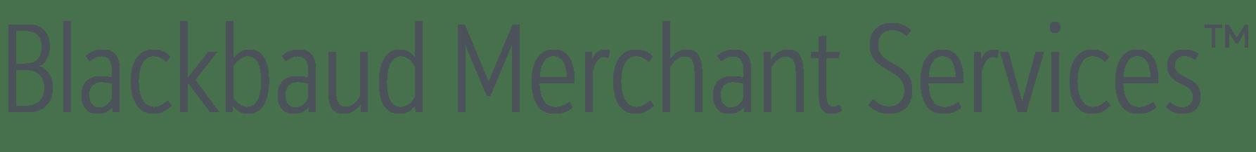 Blackbaud Merchant Services Gray