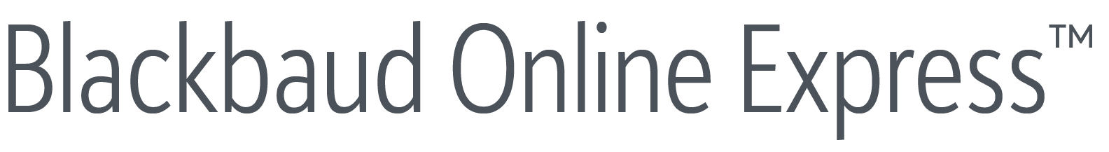 Blackbaud Online Express Gray